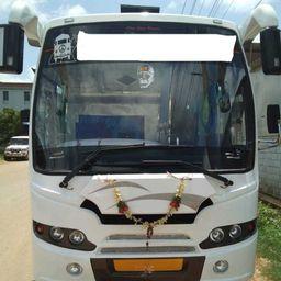 Hire 20 Seater Swaraj Mazda  A/C Bus in Bangalore